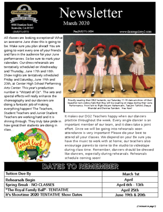 thumbnail of 2020 March Newsletter