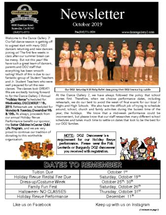 thumbnail of Oct 2019 Newsletter